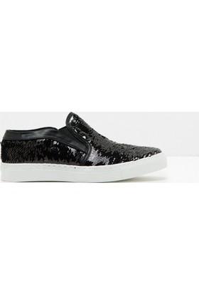 Koton Kadın Bağcıksız Spor Ayakkabı Siyah