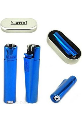 Clipper metal çakmak mavi