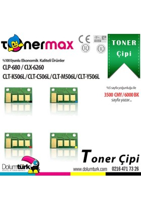 Toner Max® Samsung CLP-620 / CLX-6260 / CLT-K506L Chip