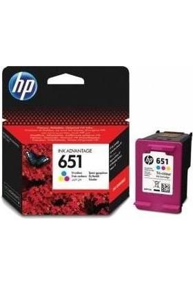 HP 651 C2P11A Renkli Orjinal Kartuş / HP DeskJet IA 5645, IA 5575