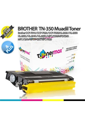 Toner Max® Brother TN-350 / TN-2025 / DCP-7010 / DCP-7020 / DCP-7025/HL-2020 / HL-2030 HL-2032 / HL-2040 / HL-2050 / MFC-7220/MFC-7240 MFC-7290 / MFC-7420 / MFC-7820 A Plus Muadil Toner