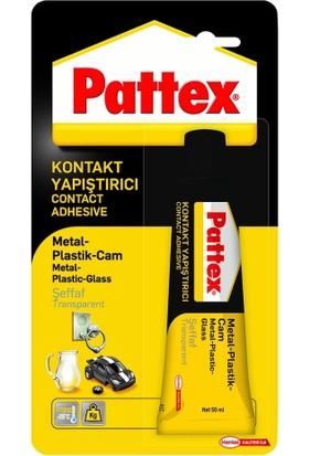Pattex Kontakt Yapıştırıcı Metal / Plastik / Cam 50G Tüp (Şeffaf)