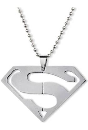 Ejoya Superman Erkek Çelik Kolye