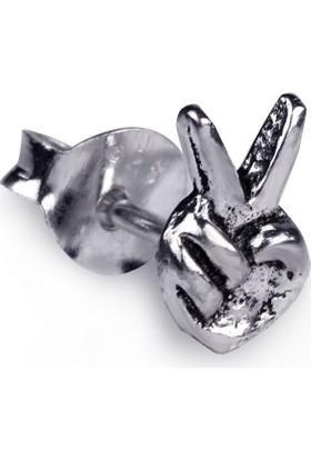 Ejoya Gümüş Zafer Erkek Küpesi 5 X 10 Mm