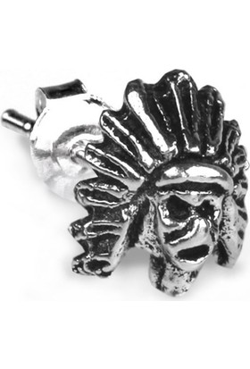 Ejoya Gümüş Mask Erkek Küpesi 5 X 6 Mm