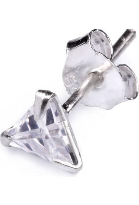 Ejoya Gümüş Erkek Küpesi 6 X 6 Mm