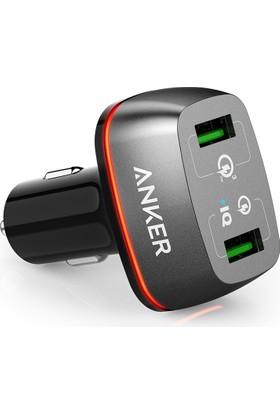 Anker PowerDrive+ 2 24W QuickCharge 3.0 Hızlı Araç Şarj Cihazı