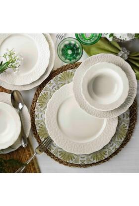 Kütahya Porselen Bone İrem 6 Kişilik 24 Parça Yemek Takımı