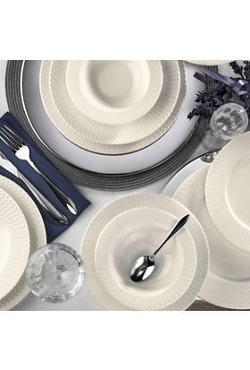 Kütahya Porselen Bone İron 6 Kişilik 24 Parça Yemek Takımı
