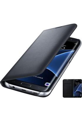 Teknoarea Samsung Galaxy S7 Edge Deri Cüzdan Kılıf Flip Wallet