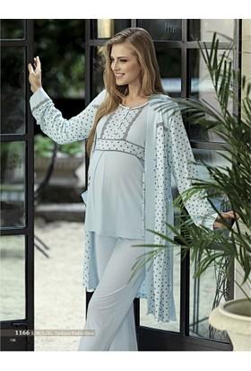 Artış Lohusa 3'lü Pijama Takım 1166Mint - Yeşil