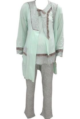 Artış 3'lü Pijama Takım 518Mint - Yeşil