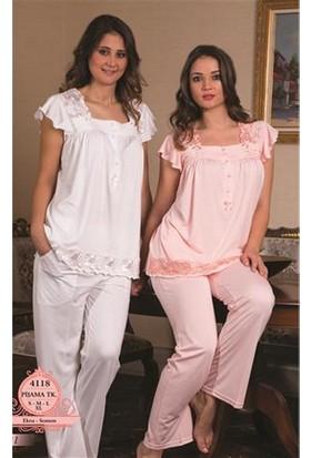 Bone Lohusa Pijama Takım 4118 - Somon