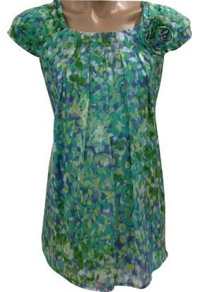 Entarim Hamile Şifon Bluz 9721 - Yeşil