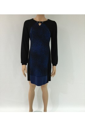 Fuçin Puantiye Desenli Hamile Elbise 5723 - Saks