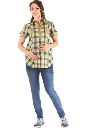 Hell Klar Ekose Kısa Kol Gömlek 122017 - Sarı