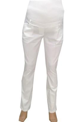 Livaa Pamuk Saten Hamile Pantalon G5032 - Beyaz
