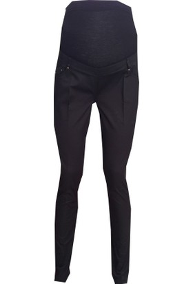 Livaa Pamuk Saten Hamile Pantalon G5032 - Siyah