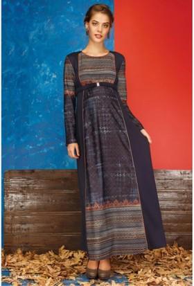 Livaa Hamile Uzun Elbise 1619 - Lacivert