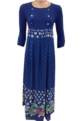 Livaa Hamile Uzun Şifon Elbise 1881 - Mercan