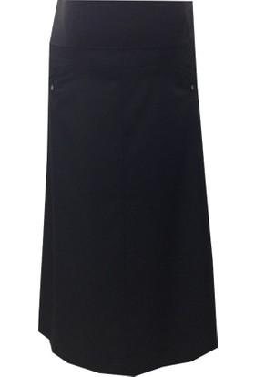 Sedef-Cadde Hamile Kumaş Etek 8009 - Siyah