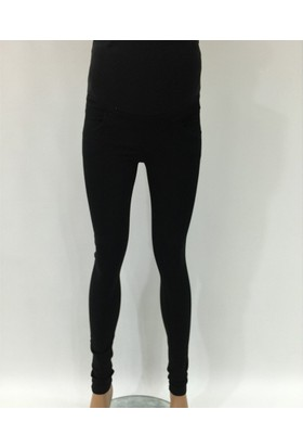 Sedef-Cadde Streç Kanvas Hamile Pantalon 6005 - Siyah