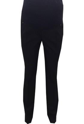 Sedef-Cadde Klasik Hamile Kumaş Pantolon 8003 - Siyah