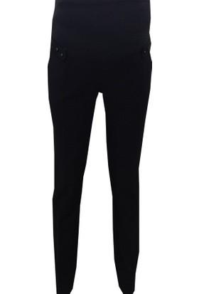 Sedef-Cadde Hamile Kumaş Pantolon 8007 - Siyah