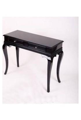 Masifart 100cm Çekmeceli Makyaj Masası Dresuar Siyah