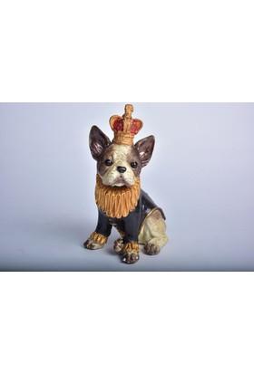 Setabianca Biblo Taçlı Oturan Elbiseli Köpek