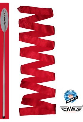 Ciwaa Ritmik Cimnastik Kurdelası ve Sopası Kırmızı Fig Onaylı CWA125