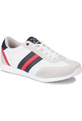 Kinetix Avıla M Mesh Beyaz Açık Gri Kırmızı Erkek Sneaker