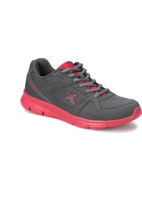 Kinetix Kalen Tx Koyu Gri Kırmızı Erkek Koşu Ayakkabısı