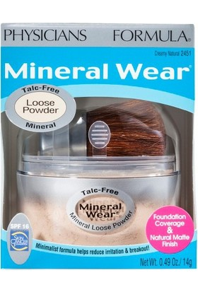Physicians Formula Mineral Wear Mineral Toz Fondöten Natural SPF16 2451