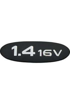 Renault Clio MK2 Kangoo için Siyah 1.4 16V Monogram Amblemi Yazısı 7700438091