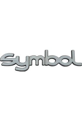 Renault Clio Symbol İçin Krom Symbol Monogram Amblem Yazısı