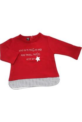 Cigit Kids Bordo Sky Kız Bebek Tişörtü