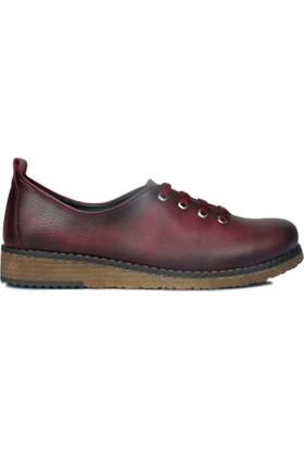 Loggalin 620178 031 624 Kadın Bordo Günlük Ayakkabı