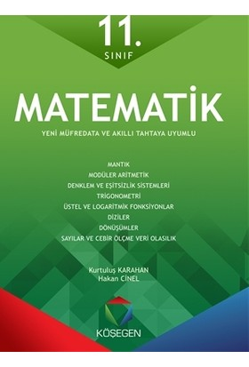 Köşegen Yayınları Matematik Fasikül Seti 11.Sınıf -Köşegen Yayınları