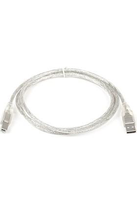 Dark USB 2.0 1.5m Şeffaf (Yazıcı)Printer ve Data Kablosu (B-Tip) (DK-CB-USB2PRNL152)