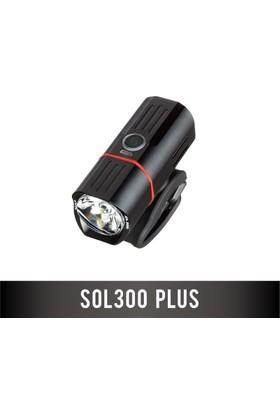 Guee Ön Işık Sol 300 Plus Usb Şarjlı Siyah