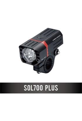 Guee Ön Işık Sol 700 Plus Usb Şarjlı Siyah
