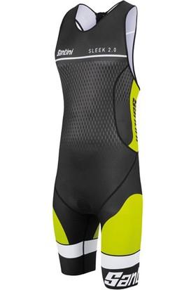 Santini Tri Suit Sleek 2.0 Aero Erkek Sarı