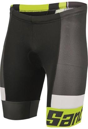 Santini Triatlon Tayt Sleek 2.0 Askısız Kısa Siyah-Sarı