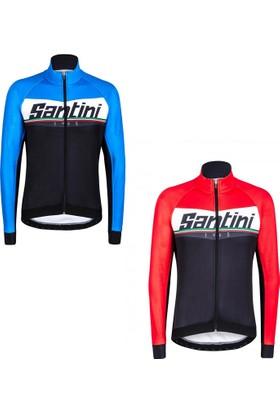 Santini Ceket Windstopper Meridian Siyah-Kırmızı