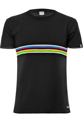 Santini T-Shirt Uci Kısa Kol Günlük Giyim Siyah
