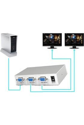 Alfais AL-4601 Vga Çoklu Ekran Çoklayıcı Switch Splitter