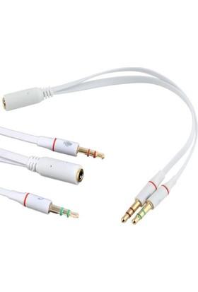 Alfais AL-4652 3.5mm Kulaklık Mikrofon Çoklayıcı Switch Splitter