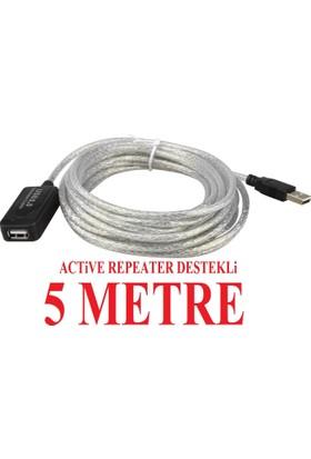 Alfais AL-4636 Aktif USB Uzatıcı Uzatma Kablosu 5 Metre