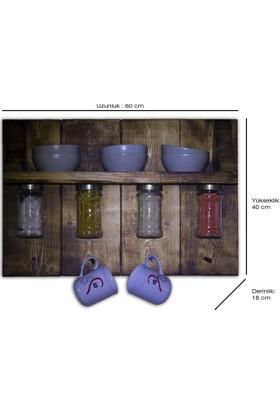 Bülent Design Masif Cok Amaçlı Mutfak Rafı